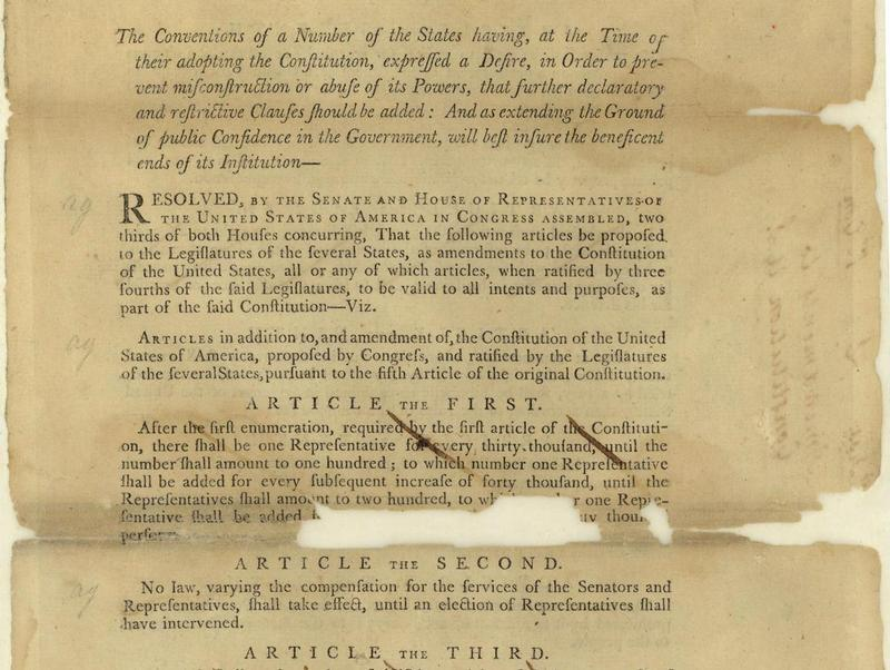 The Right Insight Proposed Constitutional Amendments