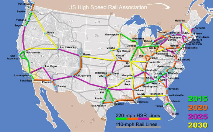 High Speed Rail Map